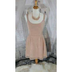 Sachin + Babi (Anthro) Blush Sequin Dress